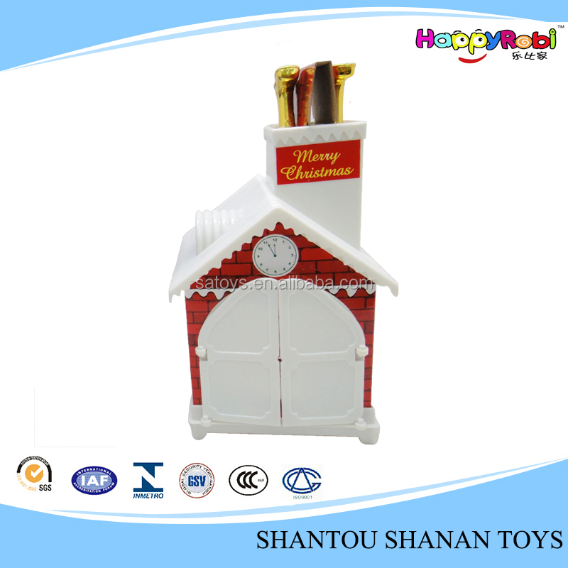 Christmas decoration gift toy plastic christmas village
