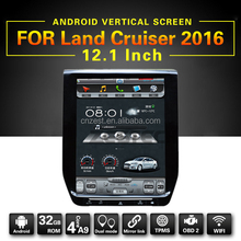 12.1inch android car radio player for Toyota Land Cruiser 200 series/V8/Roraima 2016 auto multimedia gps navigation system