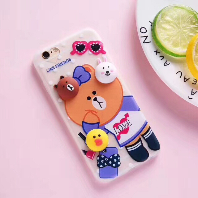 Brown bear 3D cartoon soft tpu mobile phone cases for infinix X557/HOT4 PRO phone case
