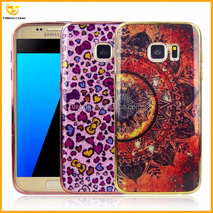 2017 hot colorful bling imd phone case for samsung galaxy s7