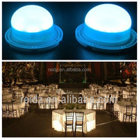 Wedding Decoration Portable Wireless Battery operated Under table led light for table wedding decorations
