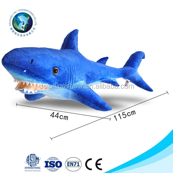 Creative aquarium gift lifelike shark plush toys stuffed whale pillow