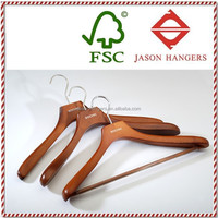 DL0999 Fashionable deluxe custom cherry clothing hanger