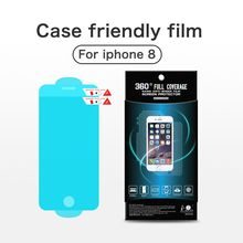 ITOP Newest 3D Curved Soft Clear TPU screen protector Material mobile phone film for iphone 8
