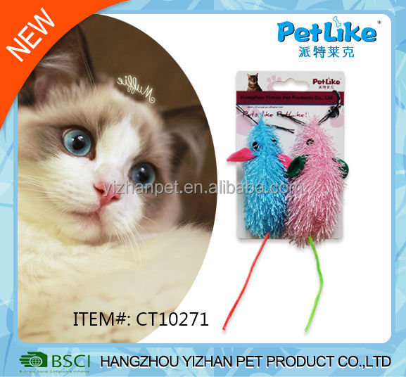 2017 China Wholesale bird like cat toy with real feather