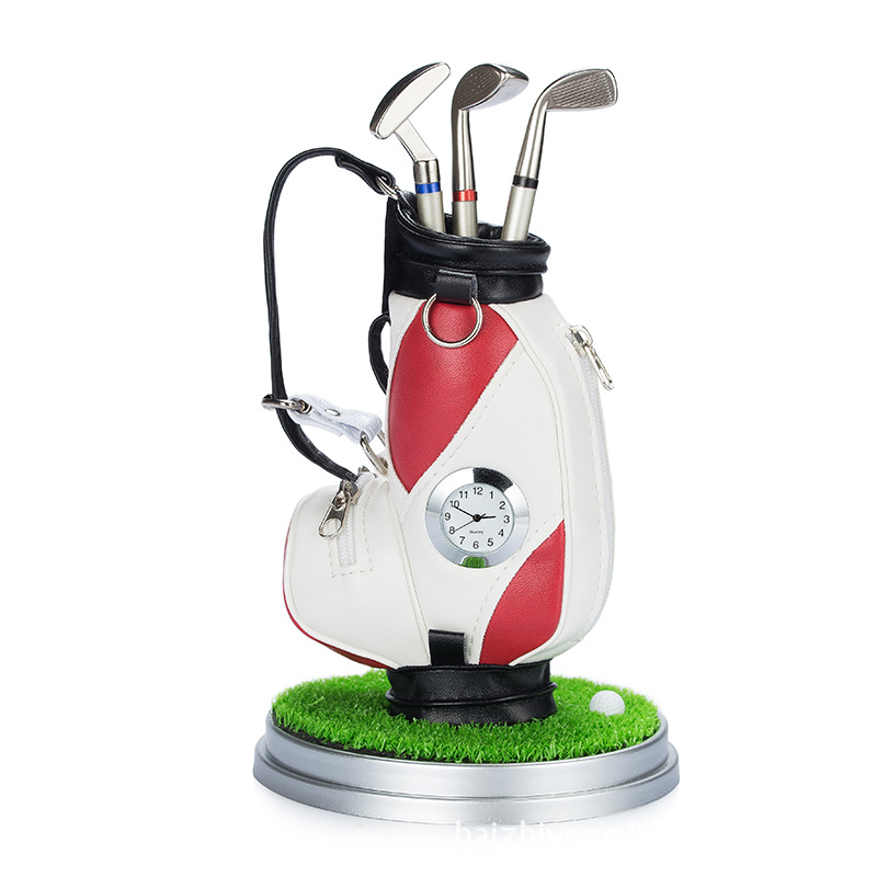 Custom Logo Original Mini Golf Trolley Golf Bag with Desk Top Pen and Pencil Holder Gifts