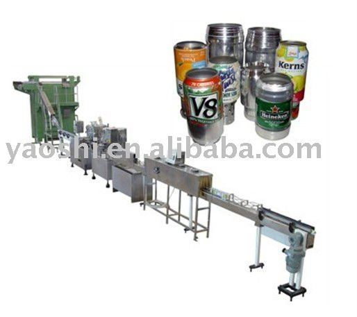 Aluminium POP-TOP Can Filling/Sealing Beverage Production Line (DY FBZ)