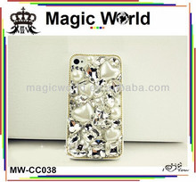 big rhinestone bling beaded cell phone covers crystal mobile phone covers