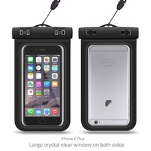 IPX8 Universal underwater Waterproof mobile phone Bag Waterproof phone Case with Armband and Lanyard