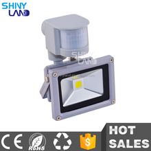 Factory direct sale dimmable pir sensor ip66 outdoor led flood light 10w