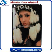 NEW plastic flip sublimation tablet case for ipad air2,with metal insert