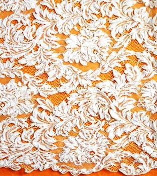 100% POLYESTER FABRIC LACE JACQUARD