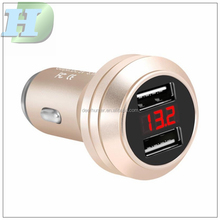 Portable Electric Type C QC 2.0 Fast Quick Charge for Phone Dual Battery Dual Port USB Car Charger