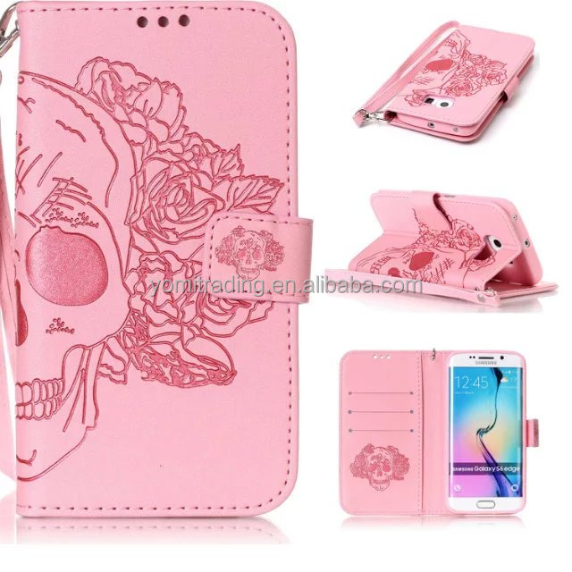 Mobile Phone Accessories Top Quality Leather Cell Phone Case For samsung s6 edge Leather Cases