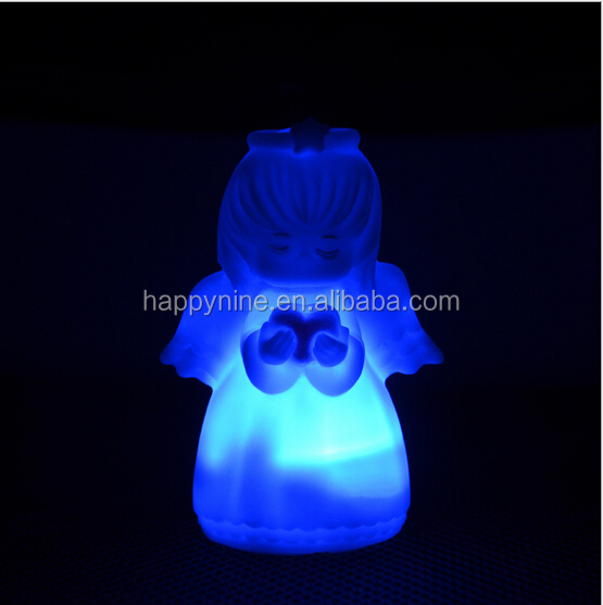 Eco-friendly Angel Shape color Changing LED night light