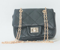High quality fashion quilted sling bag with metal chain handle