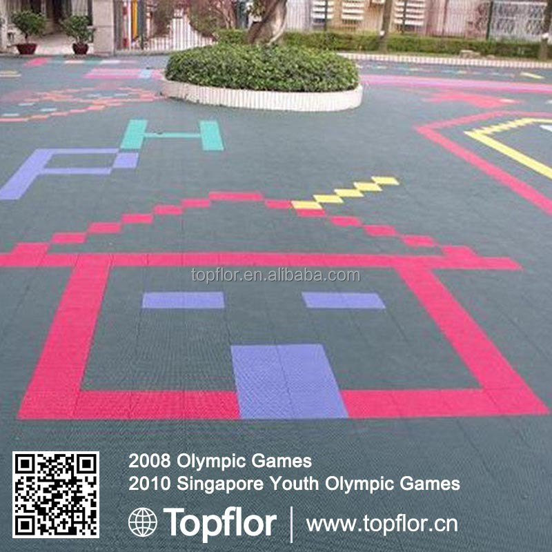 Recyclable Interlocking Floor Outdoor Sports Floors Outdoor Basketball Flooring
