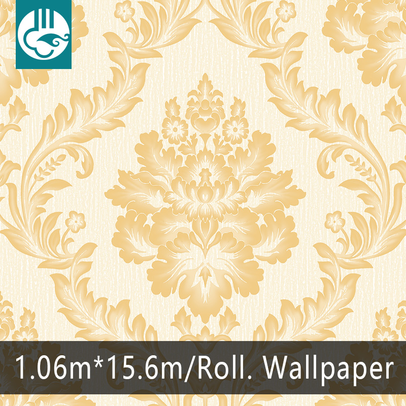 Yien Wallpaper classic damask pattern wallpaper 1.06m Korean size PVC Vinyl Wallpaper 2016 new design