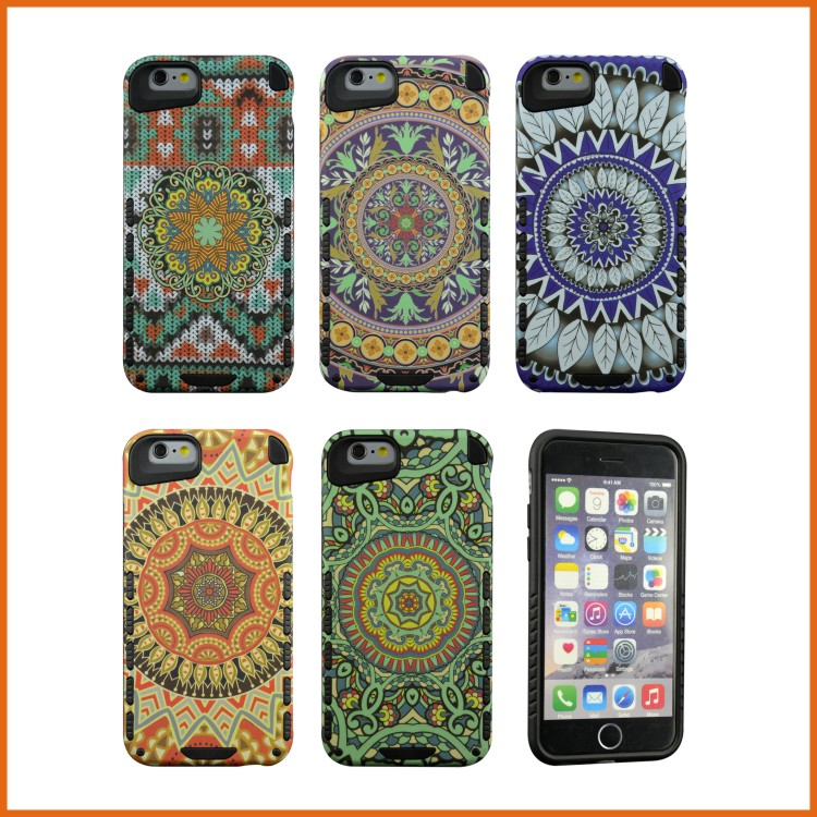 TPU+PC custom cell phone case for iphone 6