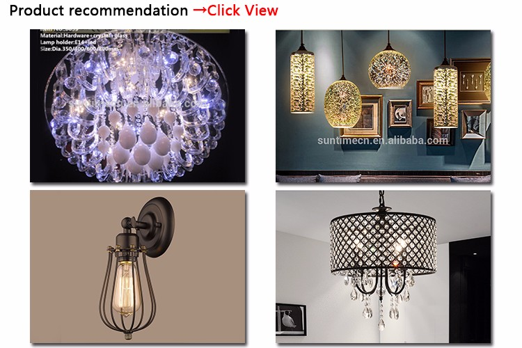 dining room lamp luxury clothing store luminaire European Crystal Chandelier