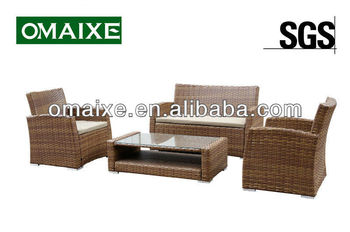 OEM available rattan furniture sofa sets for living room from factory for outdoor and indoor living