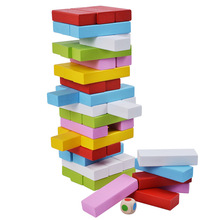 Wooden toy stacking tower jenga game wooden building block