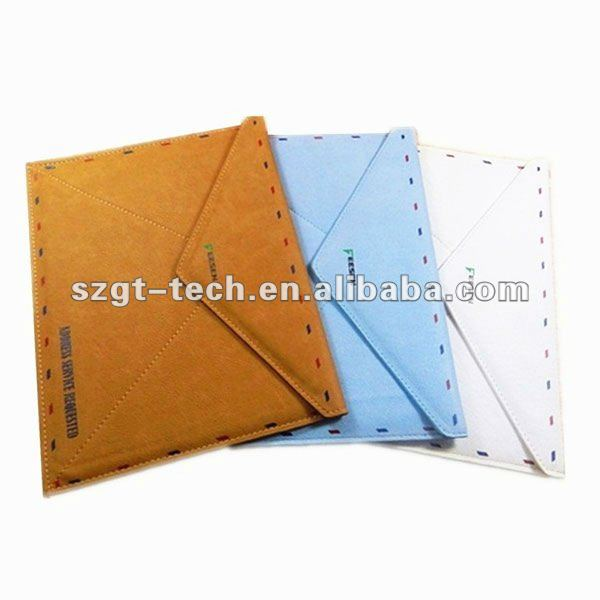 Newest Retro PU Leather Envelope Postcard design Pouch Protective cover Case for iPad3 and new iPad