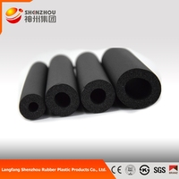 Closed Cell Nitrile Rubber Foam Insulation Tube rubber foam pipe insulation(NBR/PVC)