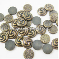 2015 newly cookie shape hot fix copper dome studs,metal studs for fabric;rhinestone studs for clothing