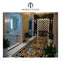 Beautiful flower design for foyer waterjet marble floor design pattern