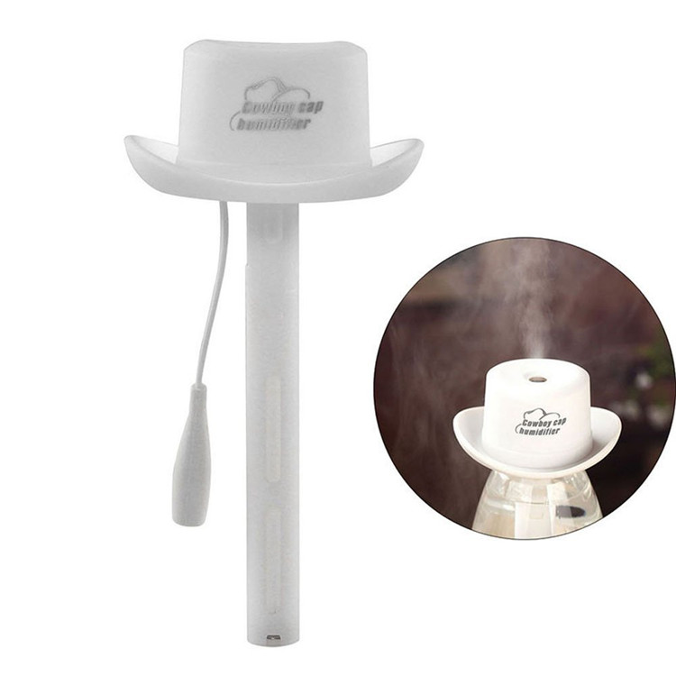 USB portable water bottle cowboy hat humidifier air diffuser aroma mist maker