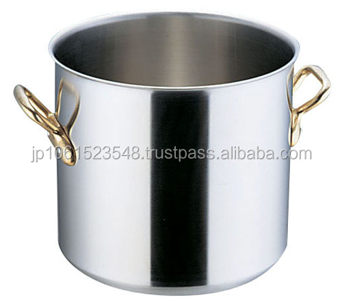 Industrial size cooking pots of luxury brass handle use