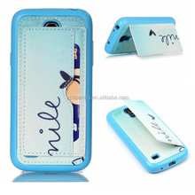 Stand case with tpu cover for Samsung Galaxy S4 mini i9190