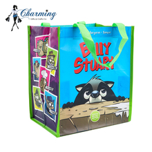 Most popular cute non woven bag pp non woven shopping bag cartoon grocery bag