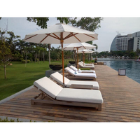 teak Wood chair for beach outdoor all weather Hotel Outdoor Swimming Pool yacht Lounge Chair