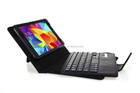 Black Leather Keyboard Book Cover Folio Case Flip Stand case for 7 inch Samsung Galaxy Tab 4
