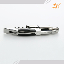 Strong quality easily use custom black handle corkscrew