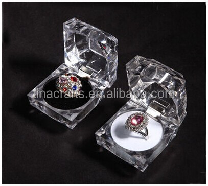 Transparent square ring <strong>box</strong> wholesale