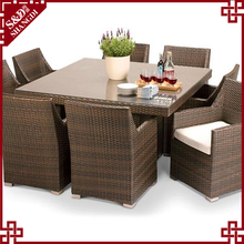 Dining table 6 cushion chairs living accents outdoor furniture