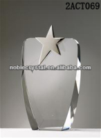 Black and clear crystal Fusion Star crystal Awards