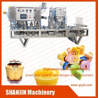 automatic pudding cup filling sealing machine with CE