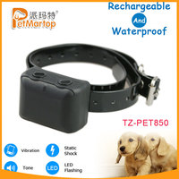 Fashionable style dog training shock and stop bark collar TZ-PET850 bark collar control