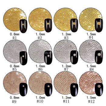 Golden/Silver 0.8mm/1mm/1.2mm/1.5mm 1KG Micro Metal Ball Beads