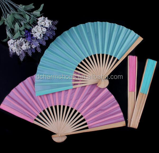 Mix order as your needs,various color for weddings hand fan for dancer with logo