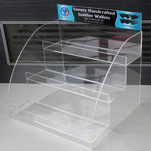 Wholesale custom wallet holder acrylic handbag display stand
