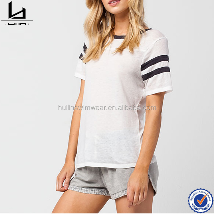 White woman plain tees cotton round neck t-shirt wholesale t shirt design custom t-shirt design by your own