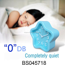 Star Shaped Mute Silence Alarm Clock Blue Digital Alarm Clock For Promotion Gifts Small Quiet Clock Room Decoration