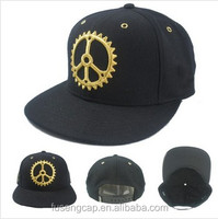 Snapback hat high quality embroidery golden thread logo