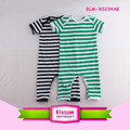 Plain Romper Baby Short Sleeve Bodysuit Newborn Baby Cotton Clothes Striped Romper Infant Onesie Baby Clothing Pajamas Jumpsuit