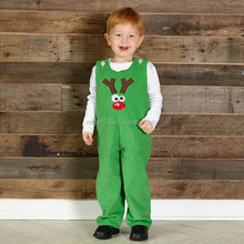 Baby Boys Christmas Cow Appliqued Longall